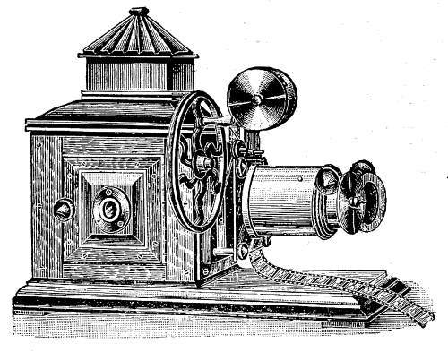 image of  Kineoptoscope (cinematograph, Riley Brothers, 1896)