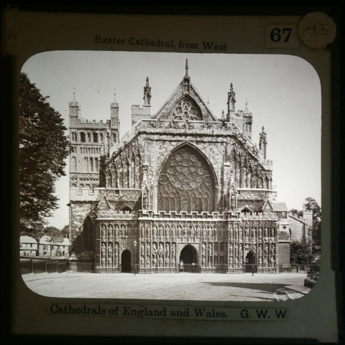 Slide showing Exeter Cathedral
