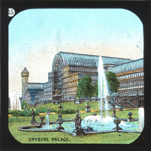 Slide showing Crystal Palace, London