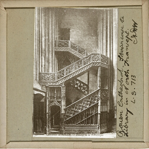 Rouen Cathedral, Staircase to Library in North Transept